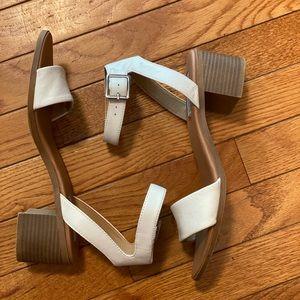 Steve Madden sandal with wood heel